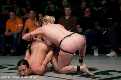 Photo number 14 from LIVE TAG TEAM LEAGUE <BR>Team Black<br> vs <br> Team Orange shot for Ultimate Surrender on Kink.com. Featuring Madison Young, Wenona, Adrianna Nicole and Dia Zerva in hardcore BDSM & Fetish porn.