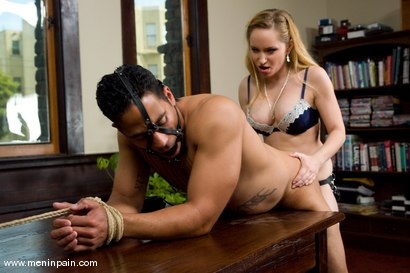 Photo number 9 from The Boss's Office shot for Men In Pain on Kink.com. Featuring Lobo and Aiden Starr in hardcore BDSM & Fetish porn.