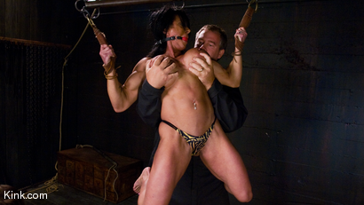 Photo number 5 from PecPanther: Nationally-ranked Bodybuilder Bound and Made to Cum shot for Hogtied on Kink.com. Featuring PecPanther in hardcore BDSM & Fetish porn.