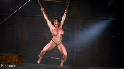 Photo number 9 from PecPanther: Nationally-ranked Bodybuilder Bound and Made to Cum shot for Hogtied on Kink.com. Featuring PecPanther in hardcore BDSM & Fetish porn.