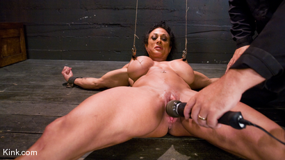 Photo number 14 from PecPanther: Nationally-ranked Bodybuilder Bound and Made to Cum shot for Hogtied on Kink.com. Featuring PecPanther in hardcore BDSM & Fetish porn.