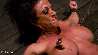 Photo number 15 from PecPanther: Nationally-ranked Bodybuilder Bound and Made to Cum shot for Hogtied on Kink.com. Featuring PecPanther in hardcore BDSM & Fetish porn.