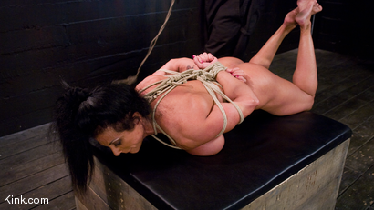 Photo number 18 from PecPanther: Nationally-ranked Bodybuilder Bound and Made to Cum shot for Hogtied on Kink.com. Featuring PecPanther in hardcore BDSM & Fetish porn.