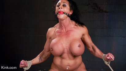 Photo number 23 from PecPanther: Nationally-ranked Bodybuilder Bound and Made to Cum shot for Hogtied on Kink.com. Featuring PecPanther in hardcore BDSM & Fetish porn.