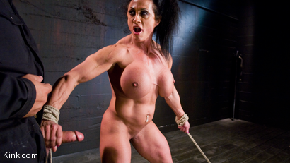 Photo number 24 from PecPanther: Nationally-ranked Bodybuilder Bound and Made to Cum shot for Hogtied on Kink.com. Featuring PecPanther in hardcore BDSM & Fetish porn.