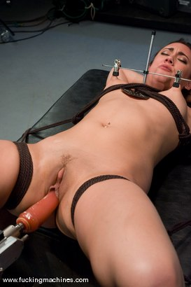 Photo number 7 from Gwen Diamond - Bound and Sassy shot for Fucking Machines on Kink.com. Featuring Gwen Diamond in hardcore BDSM & Fetish porn.