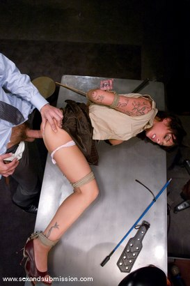 Photo number 4 from Slut Punishment shot for Sex And Submission on Kink.com. Featuring Steve Holmes and Mya Nichole in hardcore BDSM & Fetish porn.