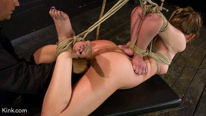 Photo number 6 from Devaun: Girl Next Door Survives a Hogtied Classic Shoot. shot for Hogtied on Kink.com. Featuring Devaun in hardcore BDSM & Fetish porn.