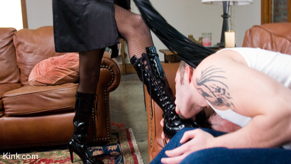Photo number 22 from Nyobi Khan: Dominates Wolf Hudson shot for TS Seduction on Kink.com. Featuring Nyobi Khan and Wolf Hudson in hardcore BDSM & Fetish porn.