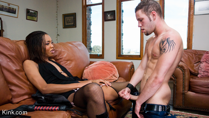 Photo number 24 from Nyobi Khan: Dominates Wolf Hudson shot for TS Seduction on Kink.com. Featuring Nyobi Khan and Wolf Hudson in hardcore BDSM & Fetish porn.