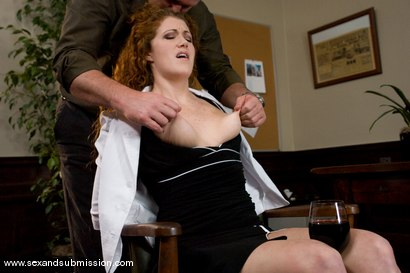 Photo number 3 from The Promotion shot for Sex And Submission on Kink.com. Featuring Mark Davis and Sabrina Fox in hardcore BDSM & Fetish porn.