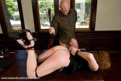 Photo number 5 from The Promotion shot for Sex And Submission on Kink.com. Featuring Mark Davis and Sabrina Fox in hardcore BDSM & Fetish porn.