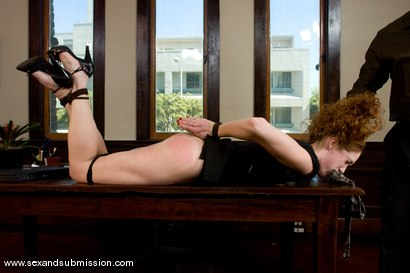 Photo number 4 from The Promotion shot for Sex And Submission on Kink.com. Featuring Mark Davis and Sabrina Fox in hardcore BDSM & Fetish porn.