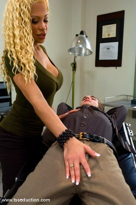 Photo number 4 from Doctor Jessica Host shot for TS Seduction on Kink.com. Featuring Jessica Host and Kade in hardcore BDSM & Fetish porn.