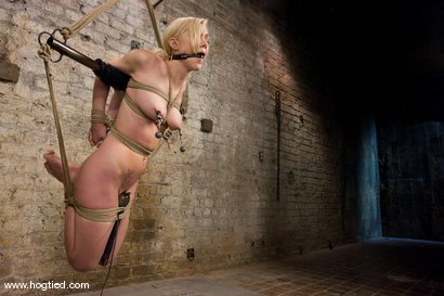 Photo number 5 from Samantha Sin:  Former Prom Queen,  Former Gymnast,  Current Bondage Whore. shot for Hogtied on Kink.com. Featuring Claire Adams and Samantha Sin in hardcore BDSM & Fetish porn.