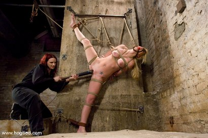 Photo number 8 from Samantha Sin:  Former Prom Queen,  Former Gymnast,  Current Bondage Whore. shot for Hogtied on Kink.com. Featuring Claire Adams and Samantha Sin in hardcore BDSM & Fetish porn.