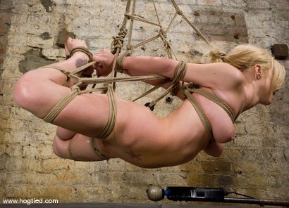 Photo number 12 from  Samantha Sin:<br>Former Prom Queen,<br>Former Gymnast,<br>Current Bondage Whore. shot for Hogtied on Kink.com. Featuring Claire Adams and Samantha Sin in hardcore BDSM & Fetish porn.