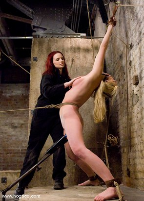 Photo number 4 from  Samantha Sin:<br>Former Prom Queen,<br>Former Gymnast,<br>Current Bondage Whore. shot for Hogtied on Kink.com. Featuring Claire Adams and Samantha Sin in hardcore BDSM & Fetish porn.