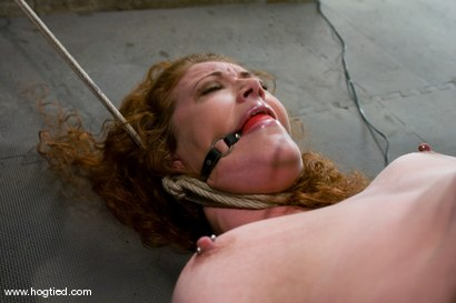 Photo number 3 from Welcome Sabrina Fox, for her first Hogtied experience.<br> We love natural red heads. shot for Hogtied on Kink.com. Featuring Sabrina Fox in hardcore BDSM & Fetish porn.