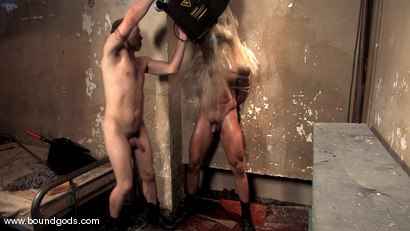 Photo number 13 from The Creepy Janitor and The Studly Student shot for Bound Gods on Kink.com. Featuring Ash Brooks and Rod Barry in hardcore BDSM & Fetish porn.