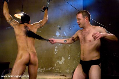 Photo number 7 from The Creepy Janitor and The Studly Student shot for Bound Gods on Kink.com. Featuring Ash Brooks and Rod Barry in hardcore BDSM & Fetish porn.