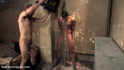 Photo number 14 from The Creepy Janitor and The Studly Student shot for Bound Gods on Kink.com. Featuring Ash Brooks and Rod Barry in hardcore BDSM & Fetish porn.