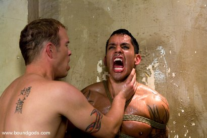Photo number 12 from The Creepy Janitor and The Studly Student shot for Bound Gods on Kink.com. Featuring Ash Brooks and Rod Barry in hardcore BDSM & Fetish porn.