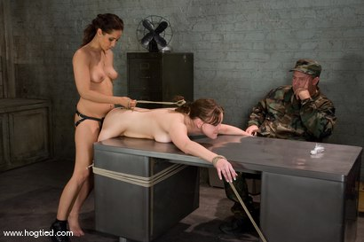 Photo number 10 from 18 year old Michell Brown in her first bondage <br> and first girl/girl scene. shot for Hogtied on Kink.com. Featuring Michelle Brown and Isis Love in hardcore BDSM & Fetish porn.