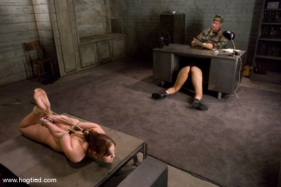 Photo number 7 from 18 year old Michell Brown in her first bondage <br> and first girl/girl scene. shot for Hogtied on Kink.com. Featuring Michelle Brown and Isis Love in hardcore BDSM & Fetish porn.