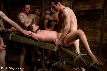 Photo number 12 from Public Gangbang 2 shot for Public Disgrace on Kink.com. Featuring Princess Donna Dolore, Devaun, Max Powers and Lobo in hardcore BDSM & Fetish porn.
