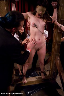 Photo number 3 from CLASSIC ARCHIVE SHOOT: MEMBER FAVORITE! Bobbi Starr Disgraced in the Armory shot for Public Disgrace on Kink.com. Featuring Princess Donna Dolore, Bobbi Starr, Billy and John Strong in hardcore BDSM & Fetish porn.