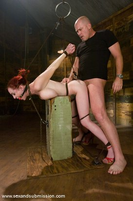 Photo number 5 from Berlin shot for Sex And Submission on Kink.com. Featuring Mark Davis and Mz Berlin in hardcore BDSM & Fetish porn.