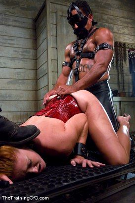 Photo number 10 from The Training of Sabrina Fox, Day Two shot for The Training Of O on Kink.com. Featuring Sabrina Fox and Lobo in hardcore BDSM & Fetish porn.