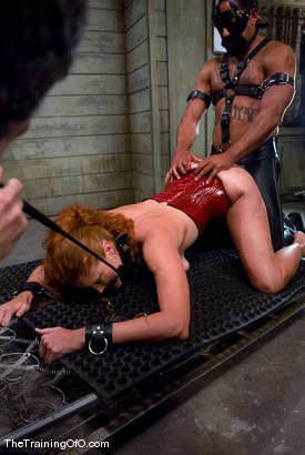 Photo number 12 from The Training of Sabrina Fox, Day Two shot for The Training Of O on Kink.com. Featuring Sabrina Fox and Lobo in hardcore BDSM & Fetish porn.