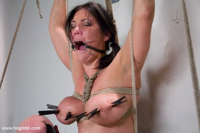 Photo number 4 from Welcome Claire Dames and her <br>massively huge breasts to Hogtied. shot for Hogtied on Kink.com. Featuring Sgt. Major and Claire Dames in hardcore BDSM & Fetish porn.