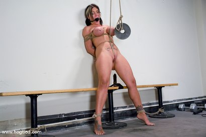 Photo number 9 from Welcome Claire Dames and her <br>massively huge breasts to Hogtied. shot for Hogtied on Kink.com. Featuring Sgt. Major and Claire Dames in hardcore BDSM & Fetish porn.