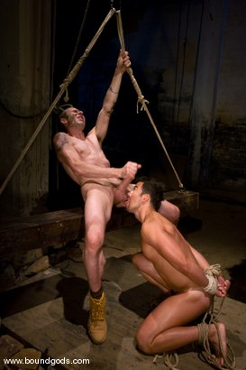 Photo number 13 from The Hiker shot for Bound Gods on Kink.com. Featuring Chad Hunt and Dominik Rider in hardcore BDSM & Fetish porn.
