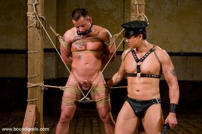 Photo number 7 from Master Van Darkholme and slave finn damion shot for Bound Gods on Kink.com. Featuring Van Darkholme and Finn Damion in hardcore BDSM & Fetish porn.