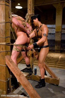Photo number 8 from Master Van Darkholme and slave finn damion shot for Bound Gods on Kink.com. Featuring Van Darkholme and Finn Damion in hardcore BDSM & Fetish porn.