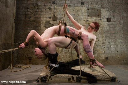 Photo number 14 from The ever flexible and amazing<br>Sarah Jane Ceylon shot for Hogtied on Kink.com. Featuring Claire Adams and Sarah Jane Ceylon in hardcore BDSM & Fetish porn.