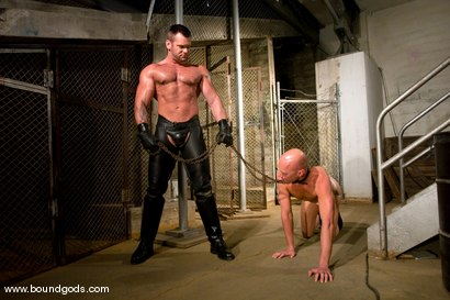 Photo number 2 from Master Tober Brandt and slave chet. shot for Bound Gods on Kink.com. Featuring Chet Walker and Tober Brandt in hardcore BDSM & Fetish porn.