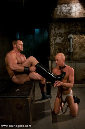 Photo number 3 from Master Tober Brandt and slave chet. shot for Bound Gods on Kink.com. Featuring Chet Walker and Tober Brandt in hardcore BDSM & Fetish porn.