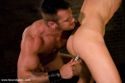Photo number 9 from Master Tober Brandt and slave chet. shot for Bound Gods on Kink.com. Featuring Chet Walker and Tober Brandt in hardcore BDSM & Fetish porn.