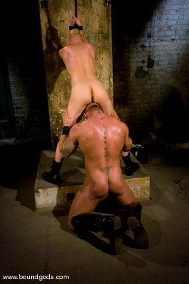 Photo number 8 from Master Tober Brandt and slave chet. shot for Bound Gods on Kink.com. Featuring Chet Walker and Tober Brandt in hardcore BDSM & Fetish porn.