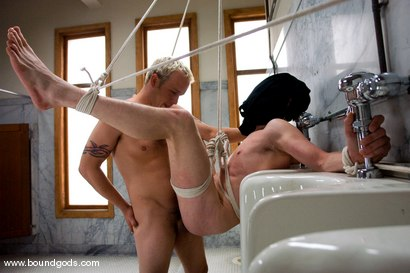 Photo number 13 from The Creepy Janitor and The Asshole shot for Bound Gods on Kink.com. Featuring Eddy and Rod Barry in hardcore BDSM & Fetish porn.