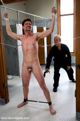 Photo number 3 from The Creepy Janitor and The Asshole shot for Bound Gods on Kink.com. Featuring Eddy and Rod Barry in hardcore BDSM & Fetish porn.