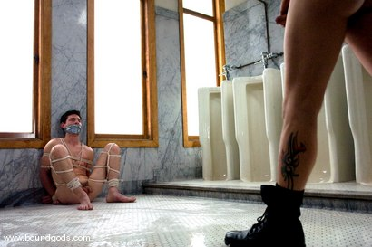 Photo number 5 from The Creepy Janitor and The Asshole shot for Bound Gods on Kink.com. Featuring Eddy and Rod Barry in hardcore BDSM & Fetish porn.