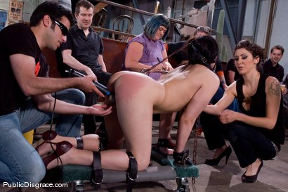 Photo number 3 from First Timer shot for Public Disgrace on Kink.com. Featuring Raina Verene and Maestro in hardcore BDSM & Fetish porn.