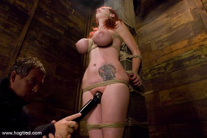 Photo number 6 from Red head with massive huge tits?<br>Then it must be Berlin. We love a girl who loves bondage. shot for Hogtied on Kink.com. Featuring Mz Berlin in hardcore BDSM & Fetish porn.
