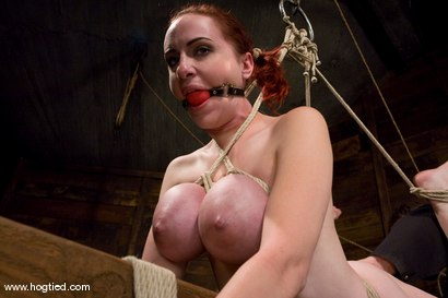 Photo number 9 from Red head with massive huge tits?<br>Then it must be Berlin. We love a girl who loves bondage. shot for Hogtied on Kink.com. Featuring Mz Berlin in hardcore BDSM & Fetish porn.